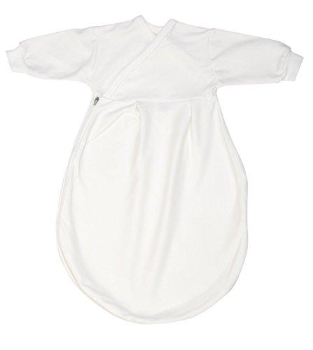 Alvi Baby Mäxchen Schlafsack Innensack Komfort, Babyschlafsack Baumwolle waschbar, Schlafsack mit Ärmel, Kinderschlafsack für Jungen und Mädchen ab 0 Monate, Größe:62