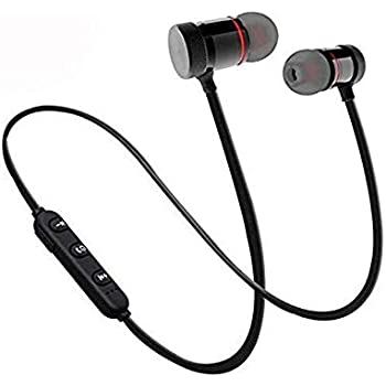 AC Accessories Magnetic in-Ear Wireless Bluetooth Headphones with Mic - (Grey and Black)