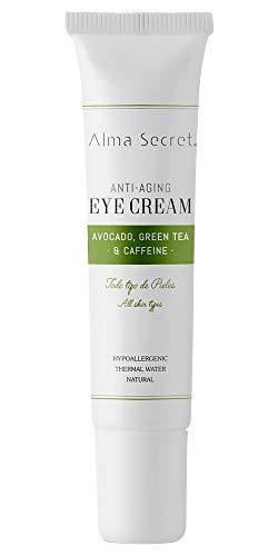 Alma Secret Contorno de Ojos Antiedad con Aguacate, Té Verde & Cafeína - 10 ml