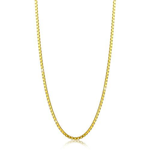 Orovi Damen Veneziakette Halskette 8 Karat (333) GelbGold Venezia kette Goldkette 0.9 mm breit 45cm lange