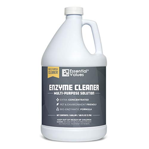 Enzyme Cleaner (1 Gallon / 128 Fl OZ), Drain Cleaner, Made in USA – Multi-Purpose Solution- Stop Odors in its Tracks | Odor Eliminator, Stain Remover, General Cleaning – for Residential & Commercial