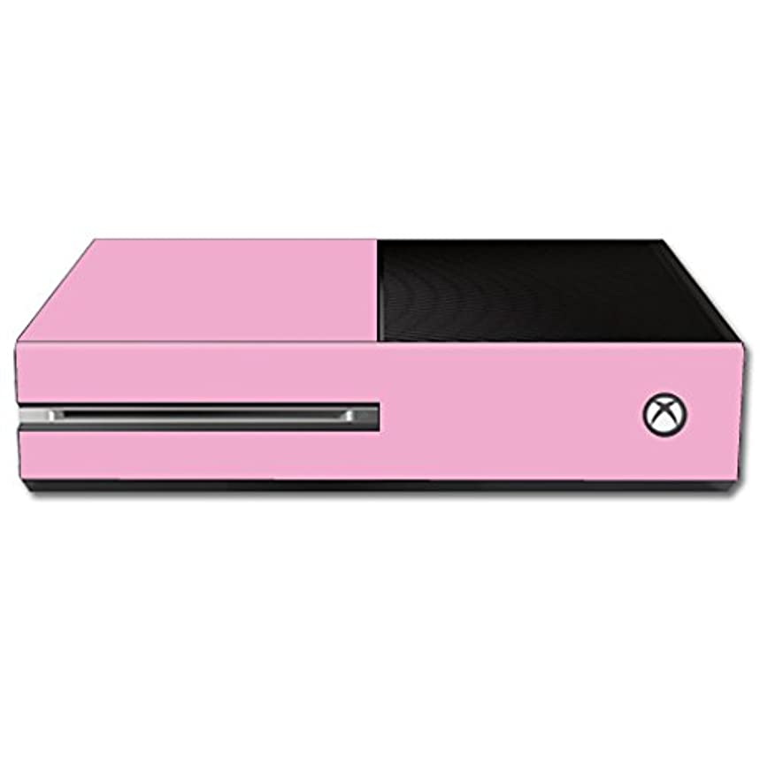 MightySkins Skin Compatible with Microsoft Xbox One Console wrap Sticker Skins Solid Pink