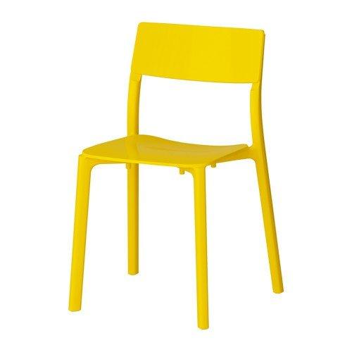 IKEA JANINGE Stuhl in gelb; stapelbar