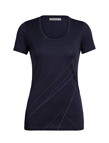 Icebreaker Tech Lite Scoop Van Life - Camiseta de manga corta para mujer (talla XS), color azul marino, tamaño medium