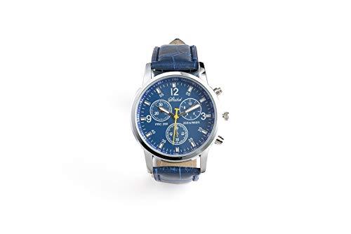 SPACEFLIGHT Armbanduhr in Blau, sportliche Analoguhr für Herren, Kunstleder, Ziffernblatt Durchmesser 3,7 cm
