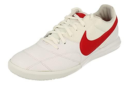 Nike The Premier II Sala Uomo Scarpe de Calcio AV3153 Trainers Scarpe (UK 8 US 9 EU 42.5, White University Red 160)