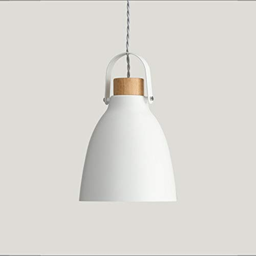 LG Snow Lámpara de techo LED gris blanca cálida de hierro lámpara de madera para comedor, sala de estar, estudio, dormitorio, minimalismo moderno simple (color: blanco)