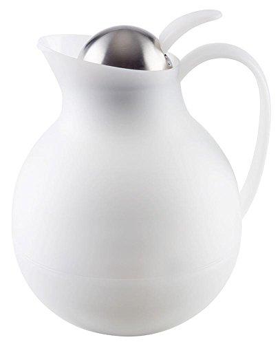 APS 10913 ECONOMY Edelstahl doppelwandige Isolierkanne, Ø 16x 20 cm 1 ltr. Weiß