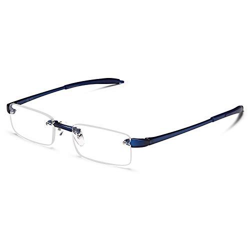 Rimless Reading Glasses - Men and Women Lightweight Readers 1.75