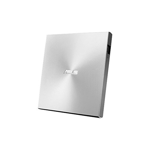Asus ZenDrive U7M externer DVD-Brenner (für Apple MacBook & Windows PCs/Notebooks, inkl. 2x M-Disk Rohlingen, Brennsoftware & Nero Backup App, M-Disc Support, USB 2.0) silber