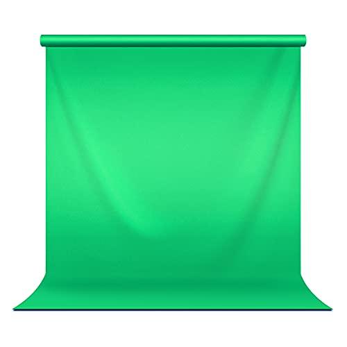 Julius Studio 5 ft.(W) X 10 ft.(H) Green Chromakey Photo Video Studio Fabric Backdrop, Background Screen, Pure Green Muslin, Photography Studio, JSAG510