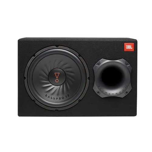 JBL BassPro 12 Aktiv Subwoofer Auto; 300mm Bassbox + 450 Watt Endstufe + Gehäuse