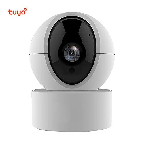 LTXDJ Cámara Inteligente con función de notificación de Alarma, con función de intercomunicador bidireccional, cámara de detección de Movimiento 1080P, Compatible con la aplicación Tuya