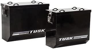 Tusk Aluminum Dual Sport Adventure Panniers - MEDIUM - Black or Silver - Includes Neck Gaiter (Black)