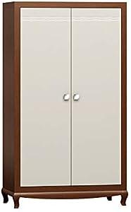 """Art-futuro Kleiderschränke L18 Standardfarbe von Walnuss Nr. 12.""""Largo line ist eine luxuriöse Kollektion von Möbeln für das Wohnzimmer (a_Standard wenge 12 / Bianco Crema)"""