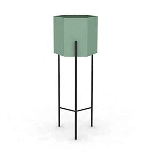 Usine en métal Stand de fleurs Rack Nordic Moderne Simple Maison Salon Balcon Atterrissage Extérieur Présentoir Bonsaï Étagère-green-large