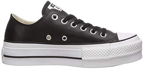 Converse Damen Chuck Taylor All Star Lift CLEAN Sneakers, Schwarz (Black/Black/White 001), 39 EU