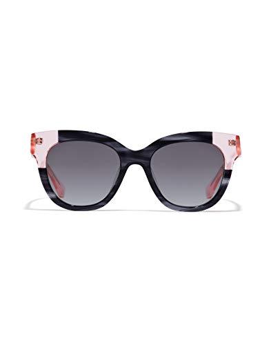 HAWKERS Gafas de Sol Audrey Estilo Butterfly, para Mujer, con Montura Bicolor Rosa transparente y Havana print Negra y Lente Oscura, Protección UV400