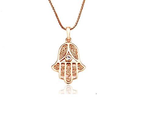 luxus Hand der Fatima Hamsa Kette Gold 18K echt vergoldet Damen Schmuck Strass Callissi (45)