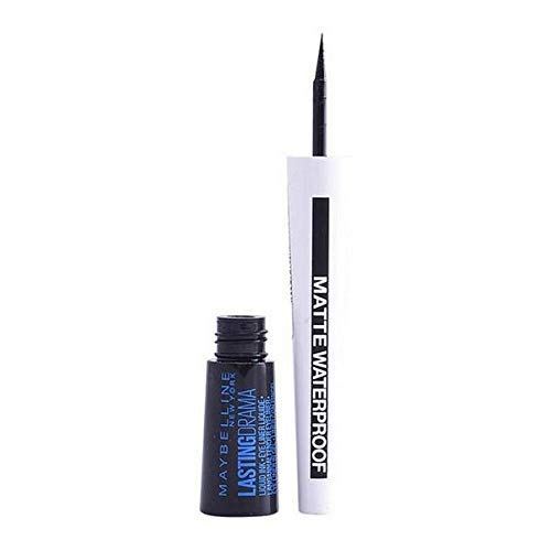 Maybelline New York Master Ink, Eyeliner Líquido Matte Waterproof, Tono Negro Mate