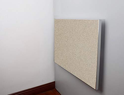 Aan de muur bevestigde klaptafel, laptop-bureau, eettafel voor kleine druppelbladen, aluminiumlegering, rand-vierkant, Europees bureau, voor binnen en buiten. 50 * 50 cm Champagne Color