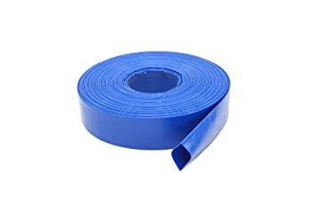 Abbott Rubber 1147-1500-100FT General Purpose Reinforced PVC Lay-Flat Water Discharge Hose 1-1/2-Inch by 100-Feet Blue