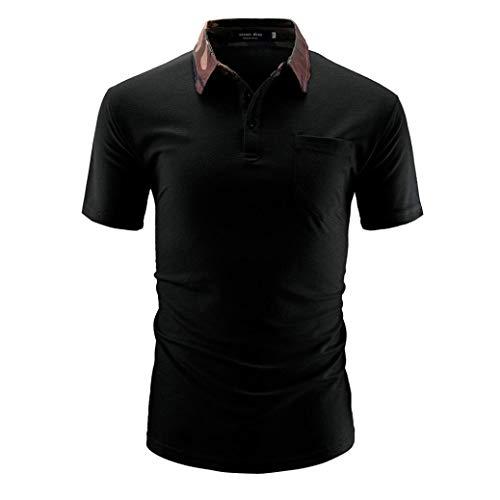 Willlly Polo Shirt heren Zomer Lapel Chic Sleeve Casual Korte Polo Shirt met borstzak Effen kleur Mode Casual Polo Shirt Tops Basic