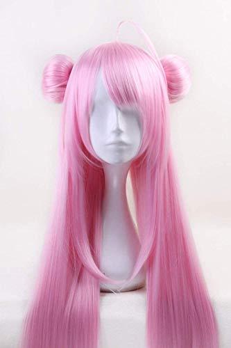 Anime Happy Sugar Life Matsuzaka Satou peluca larga recta rosa con moo Cosplay disfraz mujeres pelo resistente al calor pelucas de Cosplay