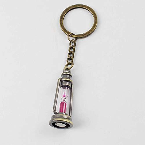 Owenqian SchlüSselband Geschenke, Metall Lampe Form Timer Sanduhr Schlüsselanhänger Laterne Schlüsselring Schlüsselanhänger Frauen Männer Geschenk