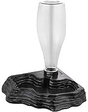 POPETPOP Podajnik na wodę - automatyczny dozownik wody akcesoria do karmienia żółwia żaba brodate smoki jaszczurki gekony do zbiornika terrarium - czarny