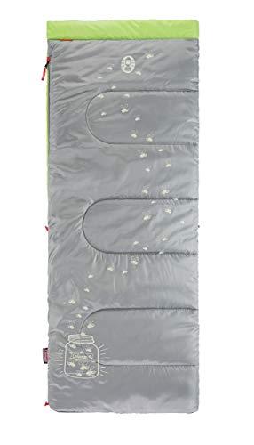 Coleman Schlafsack Glow in the Dark, leuchtender Kinder Deckenschlafsack Camping, warmer Herbst/Winterschlafsack, Outdoor und Indoor nutzbar, 168 x 66 cm, Komforttemperatur -3°C