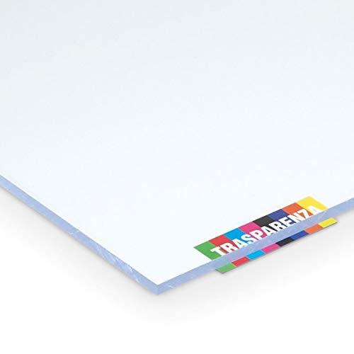 Placa de policarbonato compacta de 3 mm, transparente, 800 x 400 mm, protege contra los rayos UV