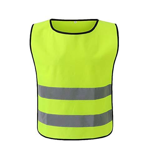 Reflecterende Vest Beveiliging Kleding Werkkleding Werken Kleding Veiligheid Waistcoat Dag Nacht Motorfiets Waarschuwing Ronde hals voor Kinderen Vrouwen Mannen L