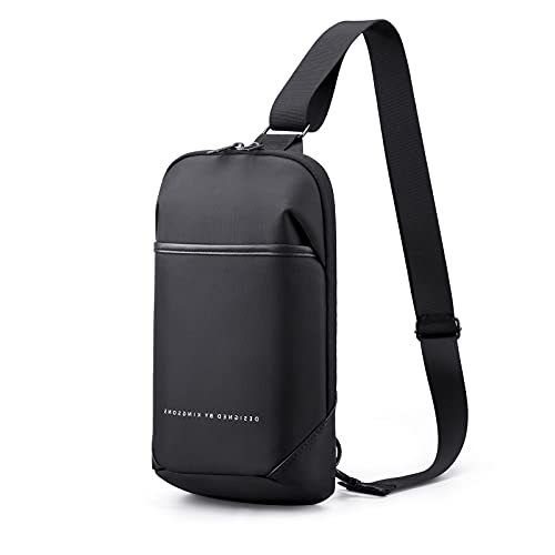 KINGSONS Sling Shoulder Bag Small Crossbody Backpack for Men Waterproof Chest Bags Casual Daypack for Travel Cycling