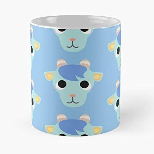 Lplpol Gamer Goat Camp Acnh Pocket Horizons Leaf Crossing New Animal Gaming – Beste 325 ml Keramik Kaffee Tee Tasse – Klassische Kaffee Tee Tasse für Kaffee, Tee, Schokolade oder Latte