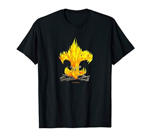 Scout Camp Fire Tee - Original fleur-de-lis design T-Shirt