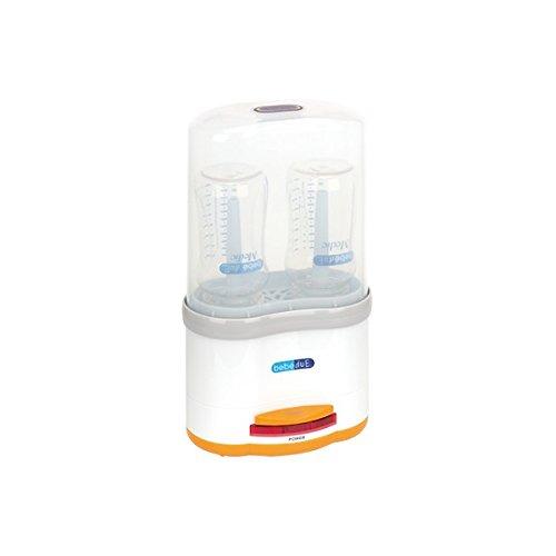 Bebé Due Electrico Doble - Esterilizador eléctrico, Esterilizador, Color Transparente y blanco, Esterilizadores