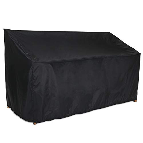Kingling Patio Sofa Cover, Outdoor 100% Waterproof Three-seat Sofa Cover, Heavy Duty Patio Furniture Covers, 64' W x 25' D x 35' H Black