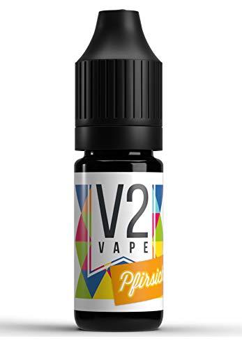 V2 Vape Pfirsich AROMA / KONZENTRAT hochdosiertes Premium Lebensmittel-Aroma zum selber mischen von E-Liquid / Liquid-Base für E-Zigarette und E-Shisha 10ml 0mg nikotinfrei