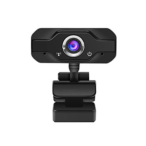 CUzzhtzy Smart 1080P Webcam with Built-in Sound-absorbing Microphone, Adjustable Angle, Color Correction, USB Camera with High-definition Images, High-precision Professional Optical Lens, Black