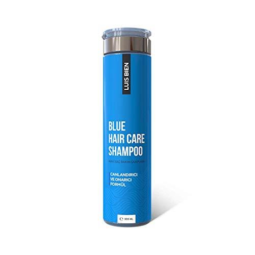 Luis Bien Blue Hair Growth Shampoo for Men and Women,Repairing and Revitalizing Hair Formula,Supports Hair Growth and Volumising Hair, Nourishes,Moisturises Hair-300 ML