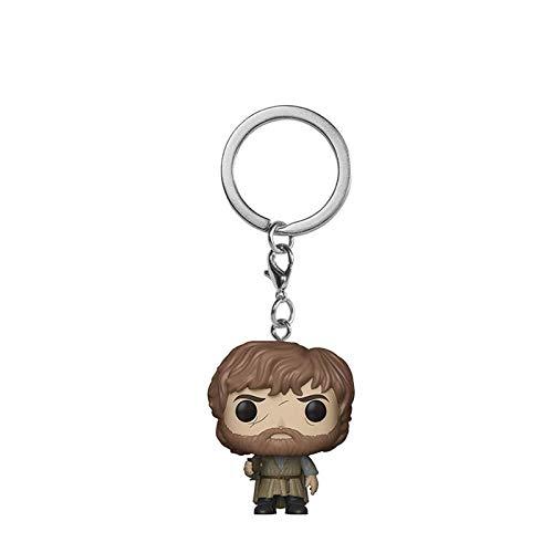 Yuqianjin Pop Llavero Juego de Tronos: Pop Tyrion Lannister Figura Modelo Llavero Q Edición Mini Muñeca Colgante Vacaciones Regalos