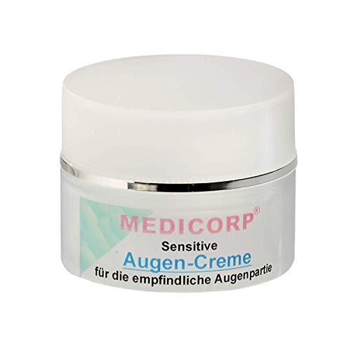 MEDICORP AUGENCREME, Hautcreme für Gesicht, Pflegende Feuchtigkeitscreme Ohne Parabene, Parrafine mit Sofort-Effekt (50ml)