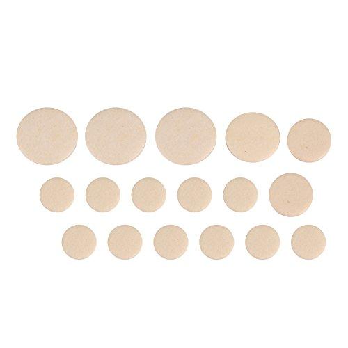 Dilwe 17Pcs Almohadillas de Clarinete, Boquilla de Clarinete Parches Almohadones Cojines de Color Beige