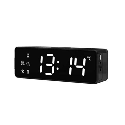 FHH Altavoz Bluetooth con radio FM inalámbrico Bluetooth altavoz inalámbrico mini portátil reloj despertador altavoz altavoz