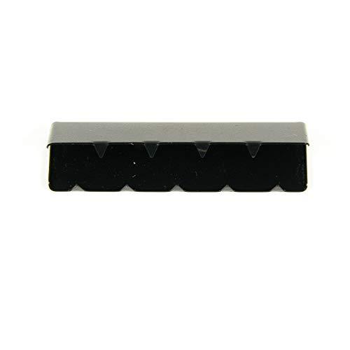 Metall-Endstück für Gurtband 40 mm, schwarz - Preis gilt für 1 Stück