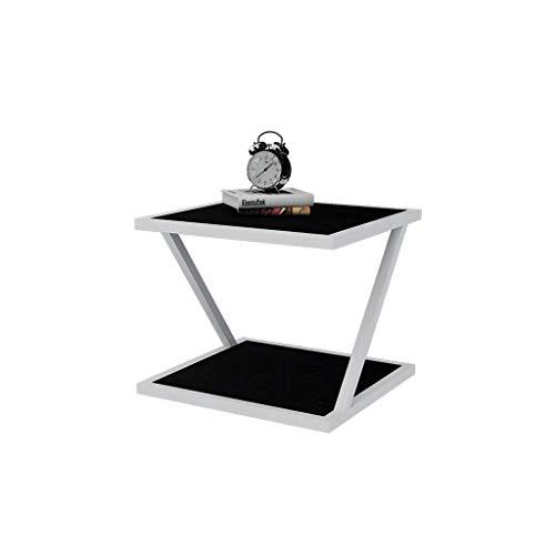 ZIJUAN Table De Thé en Forme De Z Côté Salon Salle À Manger Canapé-lit Plusieurs Table De Rangement en Coin - Noir (Taille : 40 * 40 * 50cm)