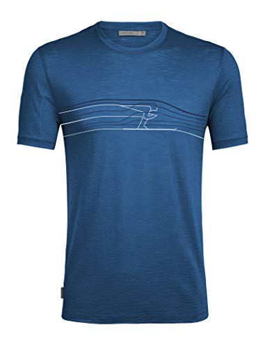 Icebreaker Spector SS Crewe Ski Race Merino - Camiseta para Hombre, Unzutreffend, otoño/Invierno, Spector SS Crewe Ski Race Merino - Camiseta, Hombre, Color Isla, tamaño Extra-Large