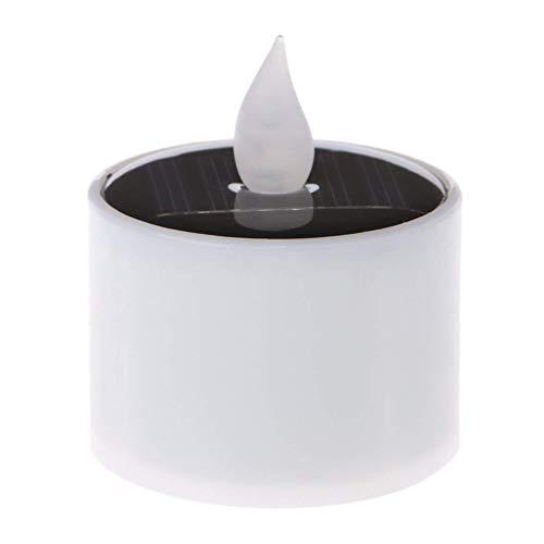Uonlytech Solar Candle Light, Waterproof Flicker Flameless Floating Candle Light, Solar Tea Light for Festival Home Garden (2Pcs)