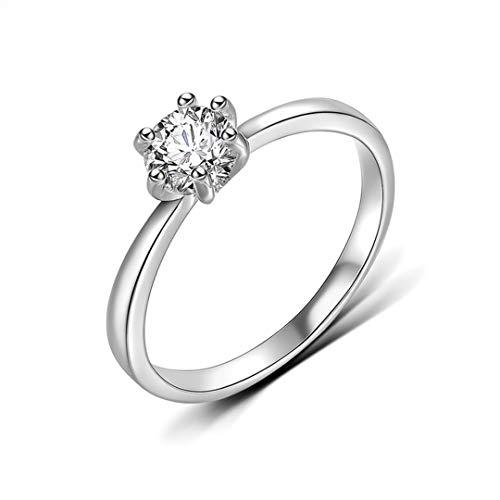 DJDLNK Verlovingsringen voor dames, klassiek, goud, zilver, voor trouwringen, vrouwen, zirkonia, vingerring, statementsieraad